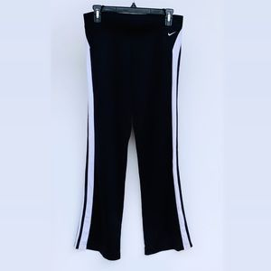 Nike Running Track Training Pants Black White